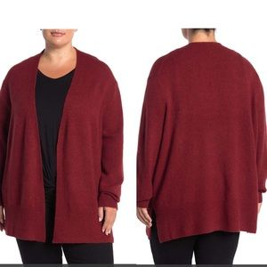 Madewell Red Cozy Knit Walker Long Cardigan NWT